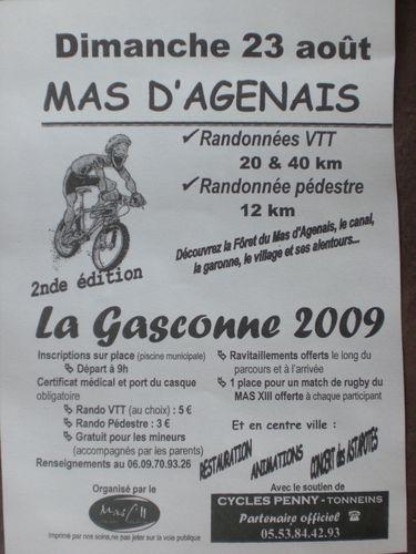 La Gasconne 2008 avait rassemblé 194 concurrents...