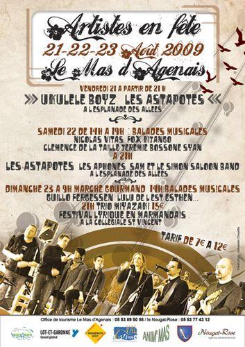 Programme du Festival du Mas d Agenais